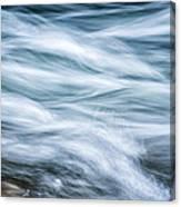 Mountain Stream In Motion E101 Canvas Print