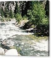 Mountain Stream Scenic Highway 395 California Usa Canvas Print