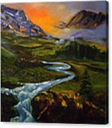 Mountain Streams Canvas Print