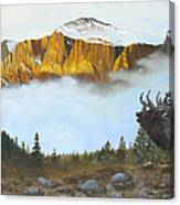Mountain Sunrise Echoes Canvas Print