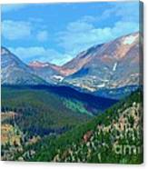 Mountain Top Color Canvas Print
