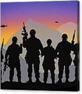 Mountain Troop Canvas Print