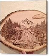 Mountain Waterfall Canvas Print