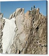 Mountaineers, French Alps Canvas Print