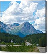 Mountains Along Cassiar Highway In Yt Canvas Print