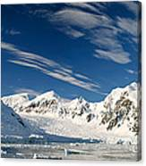 Mountains And Glaciers, Paradise Bay Canvas Print