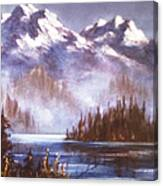 Mountains And Inlet Canvas Print