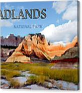Mountains And Sky In The Badlands National Park  Canvas Print