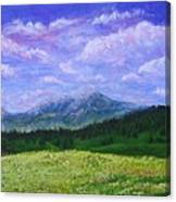 Mountains At Fossil Trails Canvas Print