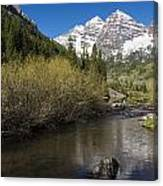 Mountains Co Maroon Bells 14 Canvas Print