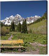 Mountains Co Maroon Bells 24 Canvas Print