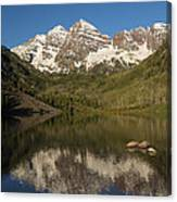 Mountains Co Maroon Bells 7 Canvas Print