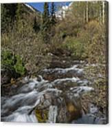 Mountains Co Maroon Creek 1 Canvas Print
