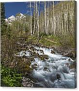 Mountains Co Maroon Creek 4 Canvas Print