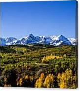 Mountain's Gold Canvas Print
