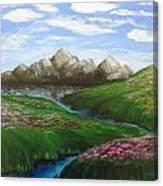 Mountains In Springtime Canvas Print