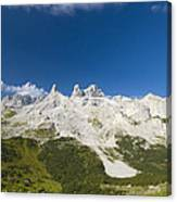 Mountains In The Alps Canvas Print