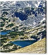 Mountains Lakes Canvas Print