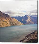 Mountains Meet Lake #5 Canvas Print