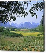 mountains near Yangshou and Guilin  Canvas Print