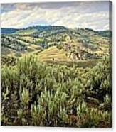 Mountains North Of The Lamar Canvas Print