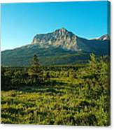 Mountains Of Many Glacier Canvas Print