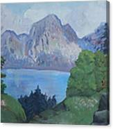 Mountains On The Lake Canvas Print