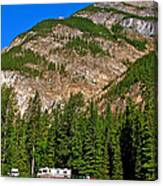 Mountains West Of Kicking Horse Campground In Yoho Np-bc Canvas Print