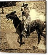 Mounted Shooting Canvas Print