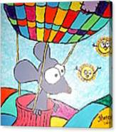 Mouse In Balloon Canvas Print