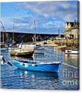 Mousehole Harbour Morning Canvas Print