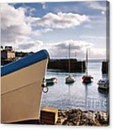 Mousehole Harbour On A May Morning Canvas Print