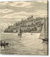 Mouth Of The Shrewsbury River 1872 Engraving Canvas Print