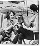 Movie Actresses Camping Canvas Print