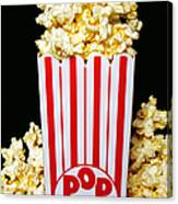 Movie Night Pop Corn Canvas Print