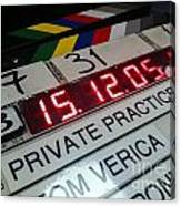 Movie Slate From Private Parctice Canvas Print