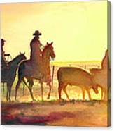 Moving Cows Canvas Print