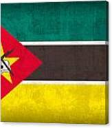 Mozambique Flag Vintage Distressed Finish Canvas Print