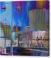 Mpm And Lamp Post Vivid Abstract Canvas Print