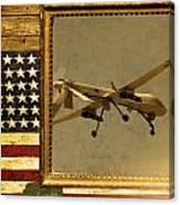 Mq-1 Predator Rustic Flag Canvas Print