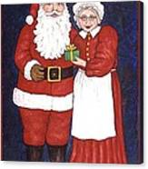 Mr And Mrs Claus Canvas Print