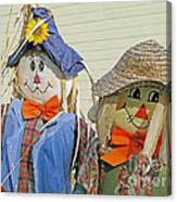 Mr And Mrs Scarecrow Canvas Print