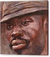 Mr Cool Hat Canvas Print