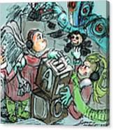 Mr. Gears Mixed Media Canvas Print