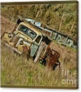 Mr Greenjeans Truck Canvas Print