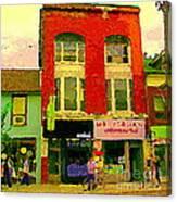 Mr Jordan Mediterranean Food Cafe Cabbagetown Restaurants Toronto Street Scene Paintings C Spandau Canvas Print