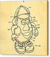 Mr Potato Head Patent Art 2001 Canvas Print