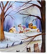 Mrs. Dunn's Winter Canvas Print
