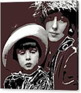 Mrs. Evelyn Nesbit Thaw And Son Arnold Genthe Photo New York 1913-2014 Canvas Print