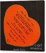 Mrs. Heartfelt Says Canvas Print